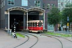 Красный трамвай Стоковая Фотография RF