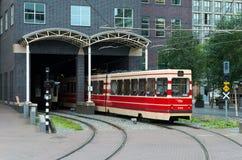 Красный трамвай Стоковые Изображения