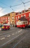 красный трам стоковое изображение