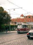 красный трам Стоковая Фотография RF