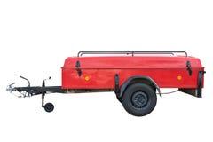 Красный трейлер автомобиля изолированный на белой предпосылке Стоковая Фотография RF
