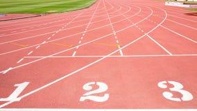 красный третбан стадиона Стоковая Фотография RF