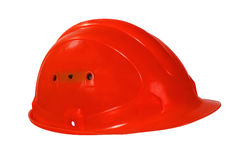 Красный трудный шлем Стоковое Изображение RF
