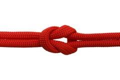 Красный узел Стоковое Фото