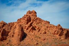 Красный утес в долине огня Стоковое Изображение RF
