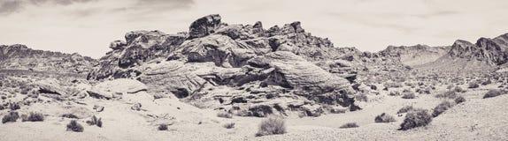 Красный утес в долине огня Стоковое фото RF