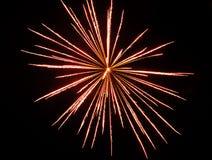 Красный феиэрверк Стоковое Изображение RF