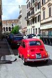 Красный Фиат 500 Стоковое Фото