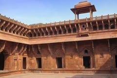 Красный форт внутрь agoraphobic Индия стоковое фото