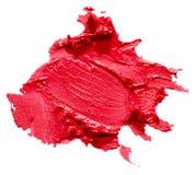 Красный ход губной помады изолированный на белой предпосылке Стоковое Изображение