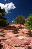Красный холм камня утеса Стоковое Фото