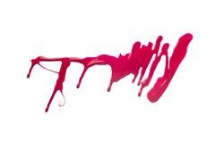 Красный ход щетки краски изолированной на белизне Стоковые Изображения RF