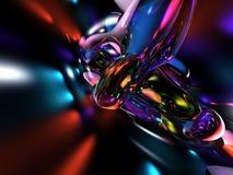 красный цвет абстрактной предпосылки 3d голубой цветастый представляет Стоковая Фотография