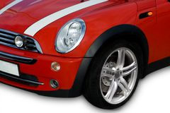 красный цвет автомобиля компактный Стоковая Фотография RF