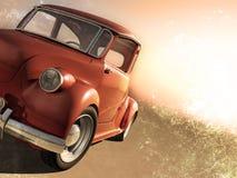 красный цвет автомобиля старый очень Стоковое фото RF