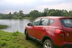красный цвет автомобиля Стоковая Фотография