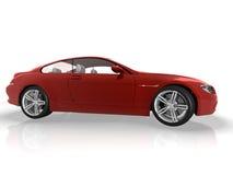 красный цвет автомобиля иллюстрация штока