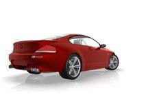 красный цвет автомобиля Стоковое Фото
