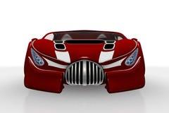 красный цвет автомобиля передний Бесплатная Иллюстрация