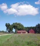 красный цвет амбара старый Стоковая Фотография RF