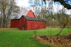 красный цвет амбара Стоковая Фотография