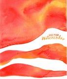 Красный цвет, апельсин, желтая предпосылка акварели Стоковые Фотографии RF