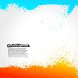 Красный цвет, апельсин и голубой Grunge краски Splatter яркие Стоковое Фото