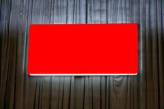 красный цвет афиши пустой стоковая фотография rf