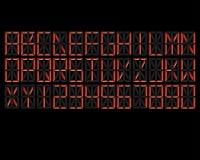 Красный цвет алфавита цифров Стоковые Фотографии RF