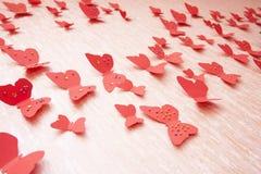 красный цвет бабочек декоративный Стоковые Изображения