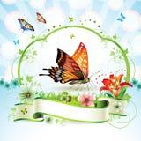 красный цвет бабочки Стоковые Изображения RF
