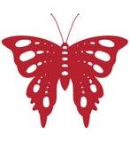 красный цвет бабочки Стоковое Фото