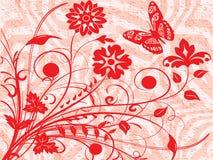 красный цвет бабочки Бесплатная Иллюстрация