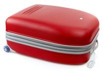 красный цвет багажа Стоковая Фотография