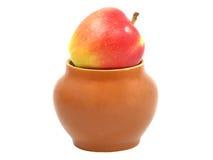 красный цвет бака глины яблока Стоковое Изображение RF
