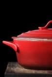 красный цвет бака глиняного кувшина Стоковое фото RF