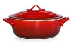 красный цвет бака глиняного кувшина Стоковое Изображение