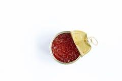 красный цвет бака металла икры Стоковые Изображения