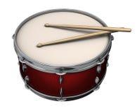 красный цвет барабанчика Стоковые Изображения RF