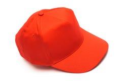 красный цвет бейсбольной кепки Стоковые Изображения RF