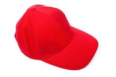 красный цвет бейсбольной кепки Стоковое Фото