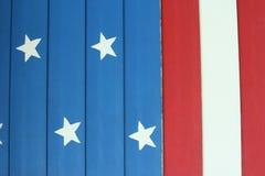 Красный цвет, белизна и синь с предпосылкой звезды Стоковые Изображения