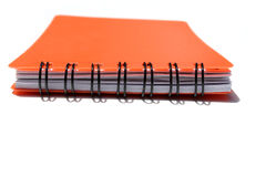 красный цвет блокнота Стоковая Фотография RF