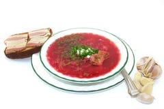 красный цвет борща стоковая фотография rf