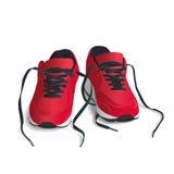 Красный цвет, ботинки спорт - иллюстрация вектора Стоковые Фото