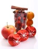 красный цвет боярышника рождества шариков Стоковые Фото