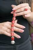 красный цвет браслета Стоковые Изображения RF