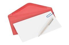 красный цвет бумаги письма габарита Стоковое Изображение RF