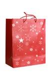 красный цвет бумаги рождества мешка Стоковая Фотография