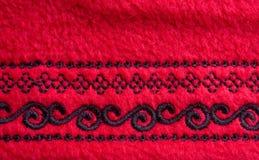 красный цвет ватки ткани стоковая фотография rf